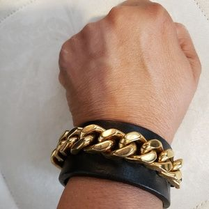 Vintage Fendi leather bracelet
